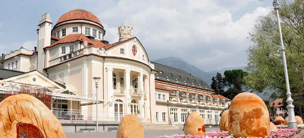 View of the Kurhaus in Merano