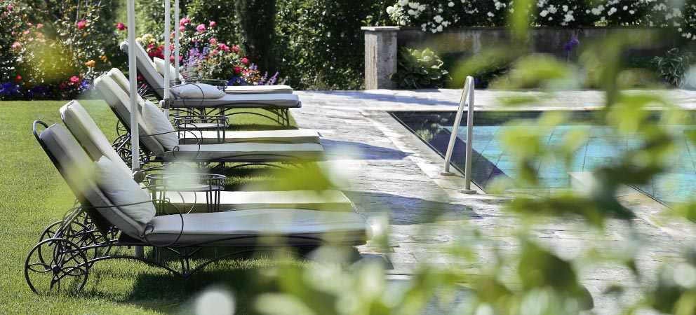The wellness are of the Hotel Giardino Marling