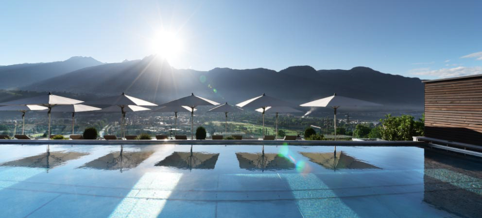 View of the relaxing area of Hotel Merano with spa