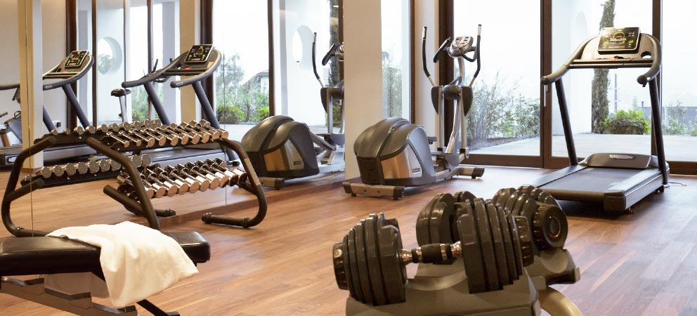 The gym of Hotel Giardino Marling